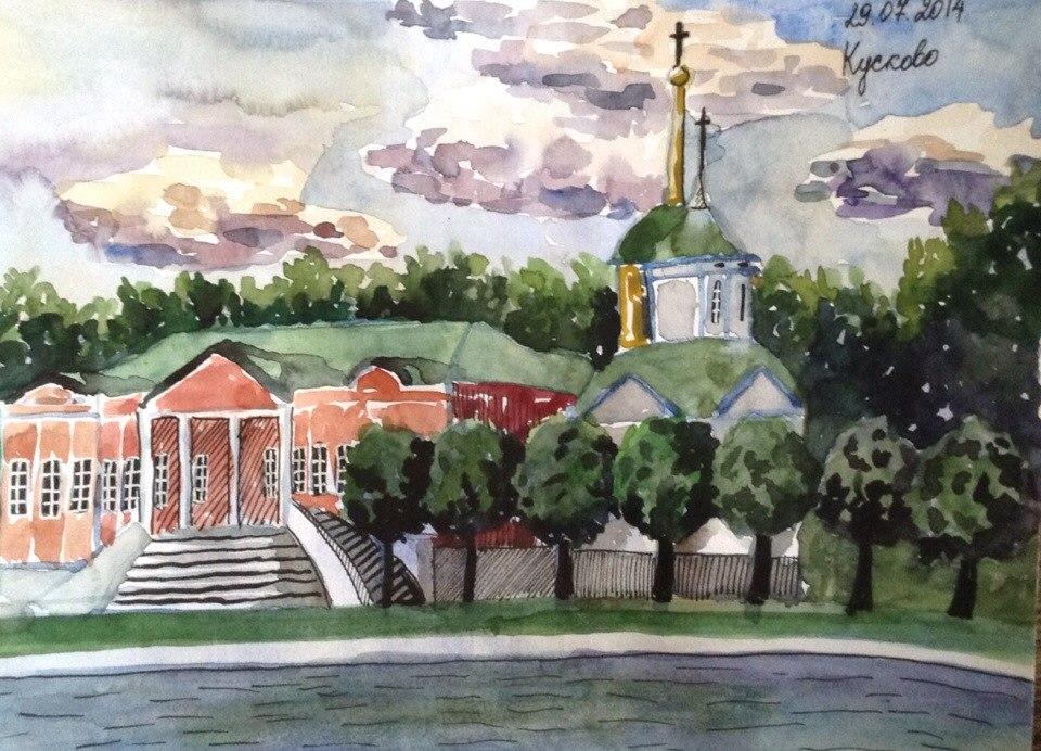 Kuskovo homestead by KassyDragonfly