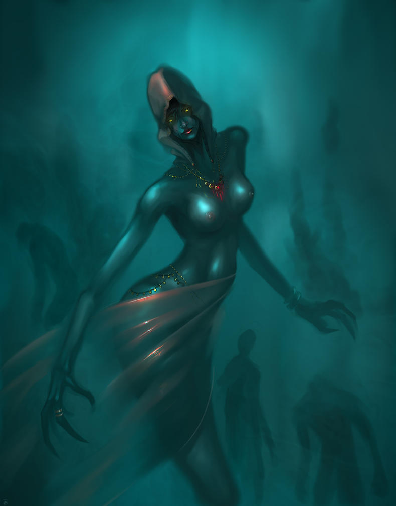 witch of the deep by krimsjod