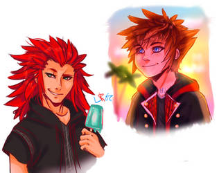 Kingdom Hearts doodles (1/3) by LilRedGummie
