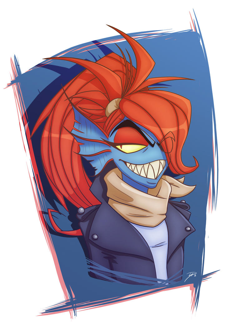 Undyne - Undertale by TheRedOcelot