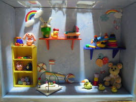 Colorful Play Room in the Dark by SmallCreationsByMel