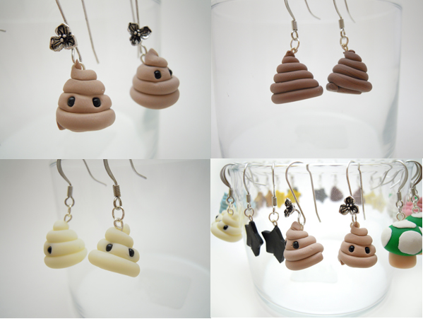Poo Earrings by SmallCreationsByMel