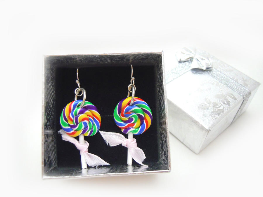 Lollipop Earrings by SmallCreationsByMel