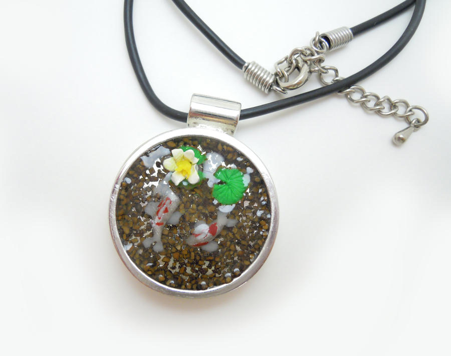 Koi Pond Pendant 2 by SmallCreationsByMel