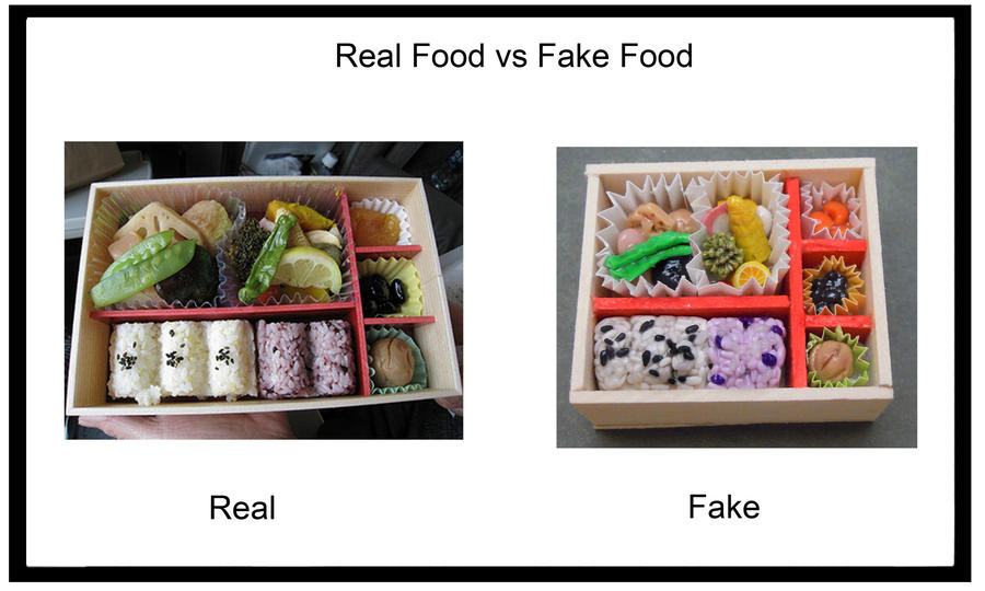 Real vs. Fake #1 [Bento] by SmallCreationsByMel