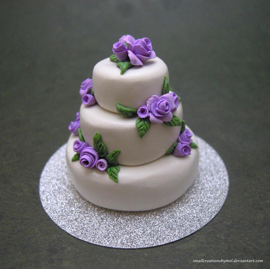 Purple Rose Wedding Cake By SmallCreationsByMel On DeviantArt