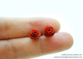 Rose Earrings by SmallCreationsByMel