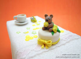 Teddy Bear Cake by SmallCreationsByMel