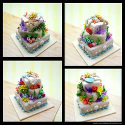 Underwater Cake by SmallCreationsByMel