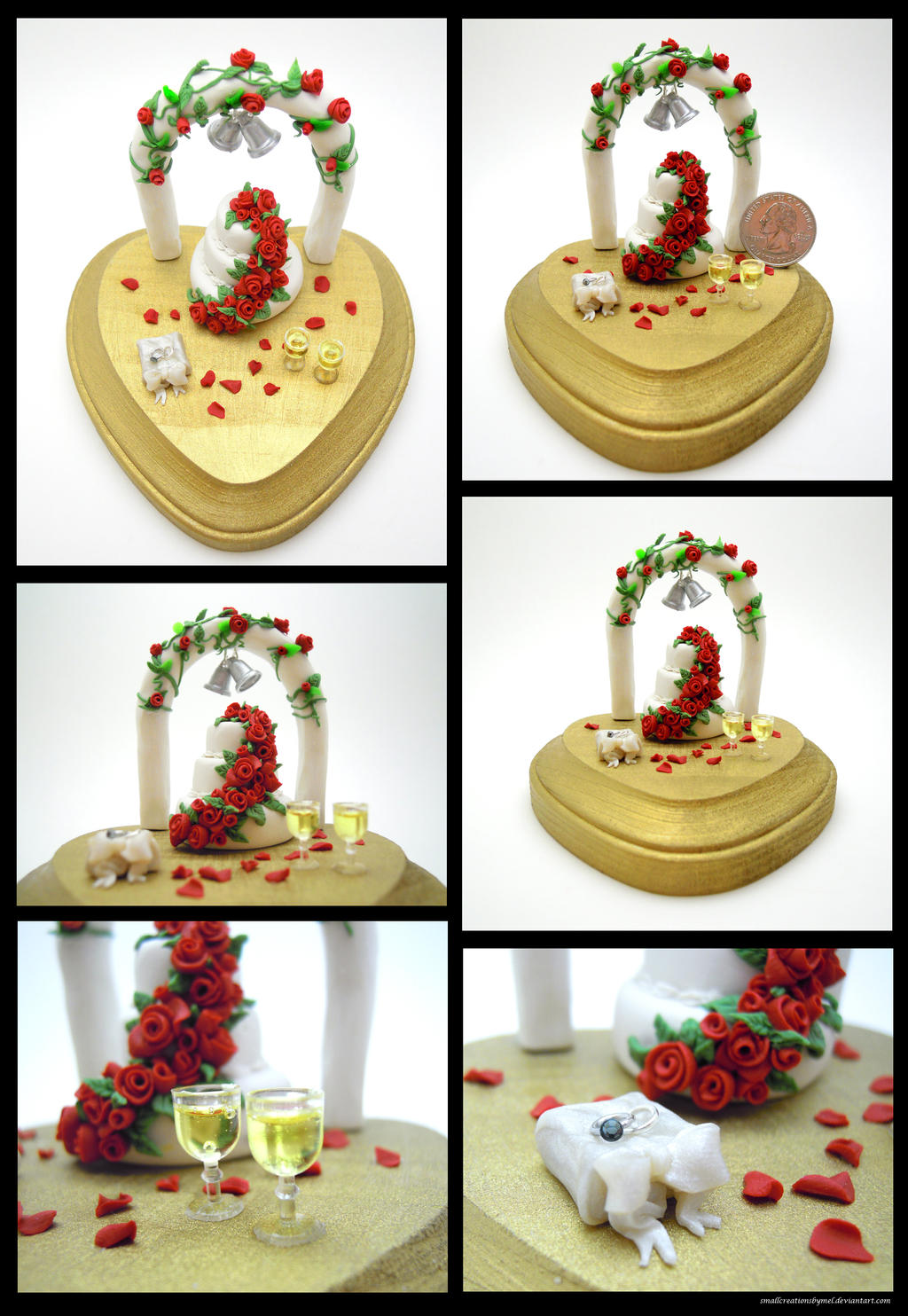 Red Rose Wedding Piece by SmallCreationsByMel
