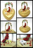 Red Rose Wedding Piece by SmallCreationsByMel