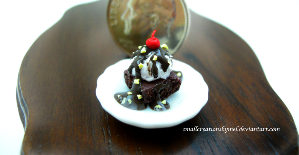 Ice Cream Brownie by SmallCreationsByMel