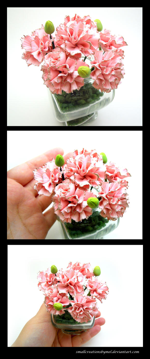 Pink Carnations by SmallCreationsByMel