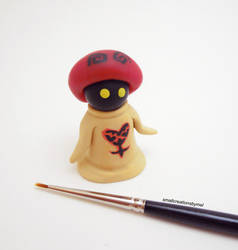 Heartless White Mushroom from Kingdom Hearts by SmallCreationsByMel