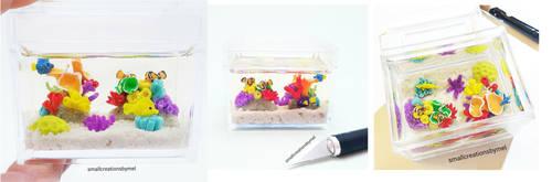 Aquarium - Front, Back, Top by SmallCreationsByMel