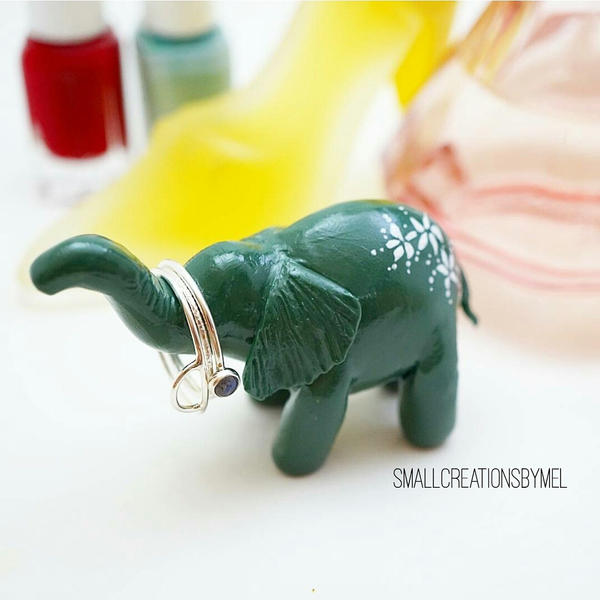 Polymerclay Animal Rings