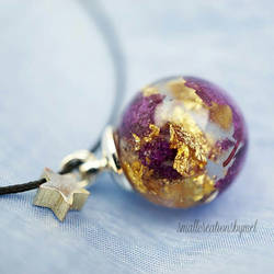 Purple and Gold Charm