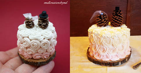 Wedding Cake real vs. fake