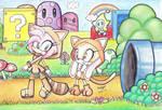 Amy and Cream in Mushroom Kingdom