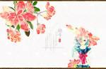 PINK watercolor flower PNGS