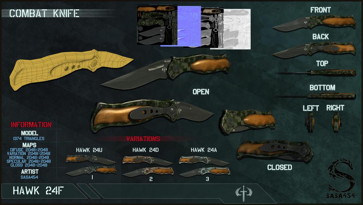 Tactical Knife 'HAWK 24' by sasa454