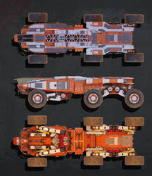 Planetary Exsploration Vehicle: Orthographic View1