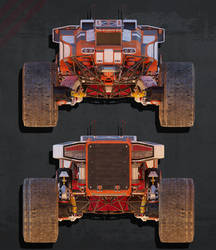 Planetary Exsploration Vehicle: Orthographic View2