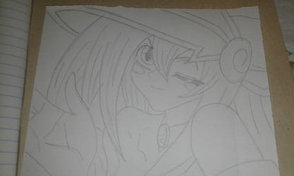 Dark Magician Girl - Line Art