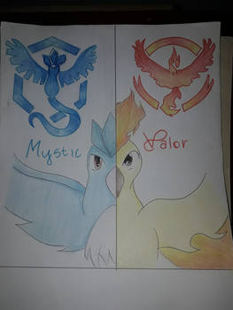Mystic (Ice) VS Valor (Fire)