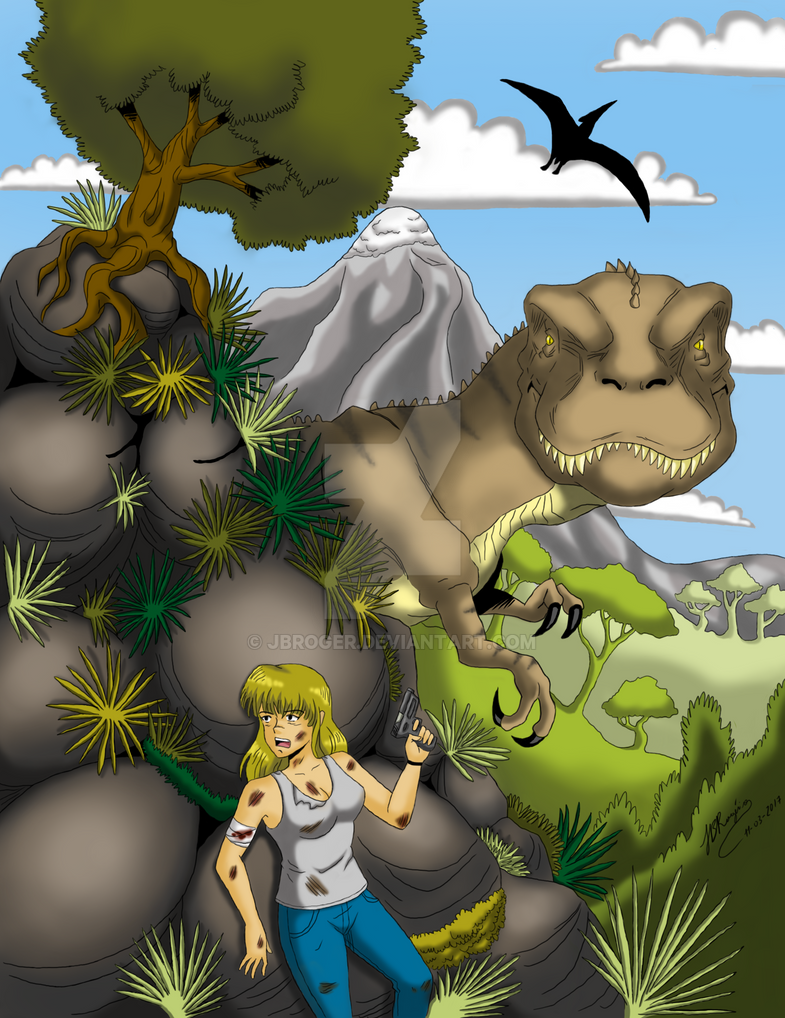 The Girl and the Dinosaur. by JBRoger
