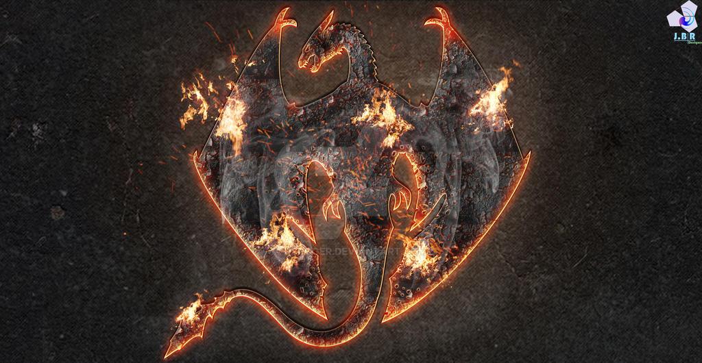 Fire Dragon Emblem by JBRoger