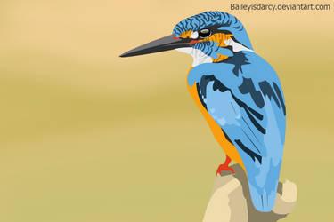 kingfisher cartoonised by BaileyisDarcy