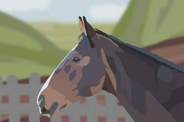 Horse cartoonised by BaileyisDarcy