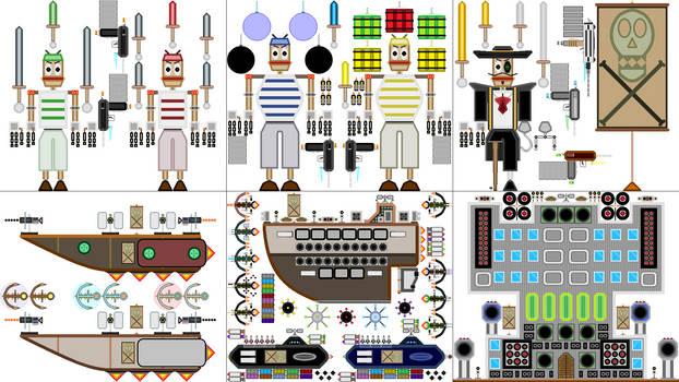 Captain Casinopolis's Robot Pirate Set