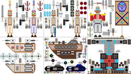 Captain Casino Anchor's Robot Pirate Set