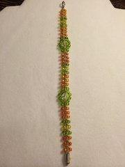 8 inch Bracelet Green Orange