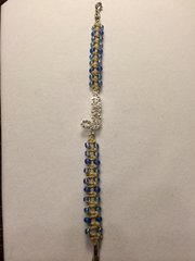 8 inch Bracelet Blue with Love Charm