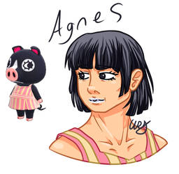 Animal Crossing - Agnes as a human (ReUploaded) by W-R-Draw
