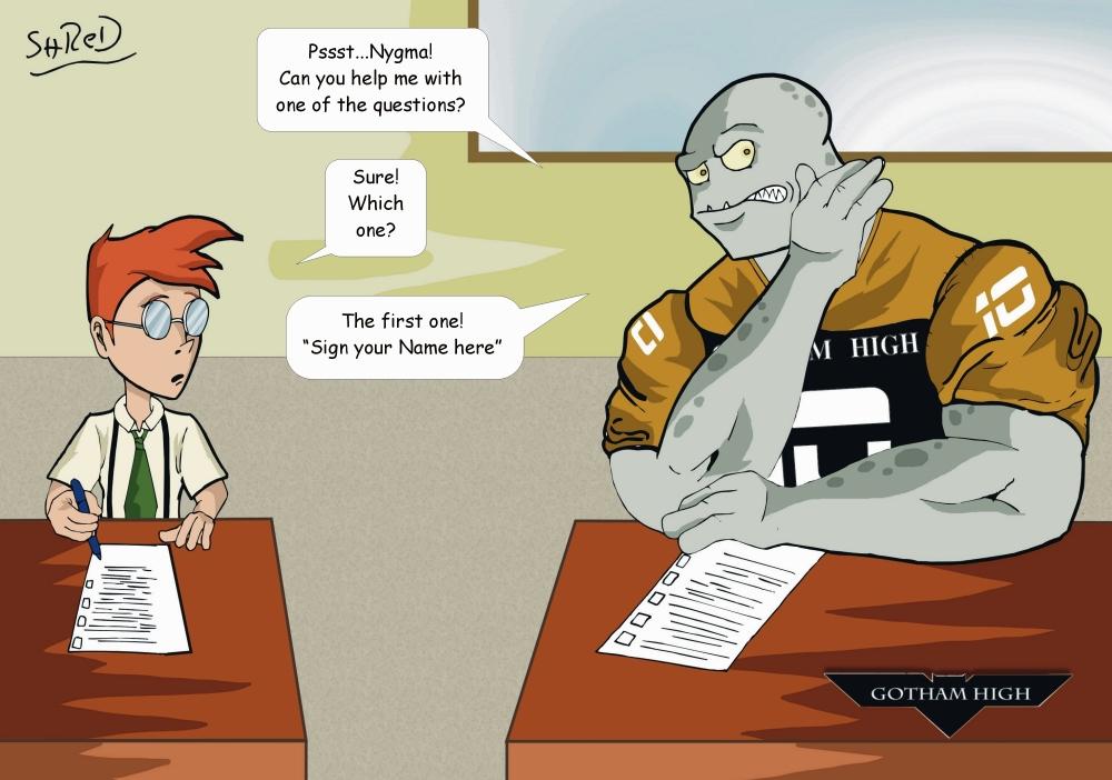 Gotham High: Classwork by ShredSmiler