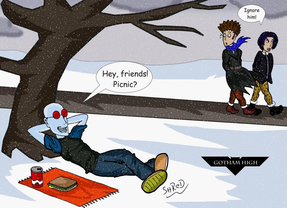 Gotham High: Picnic by ShredSmiler