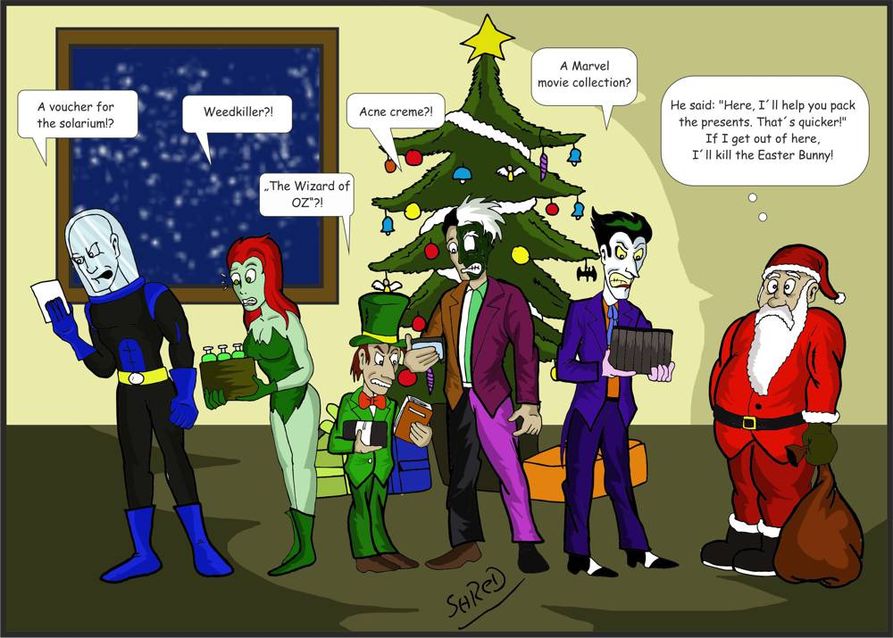 Batty Baddies: Merry X-Mas by ShredSmiler