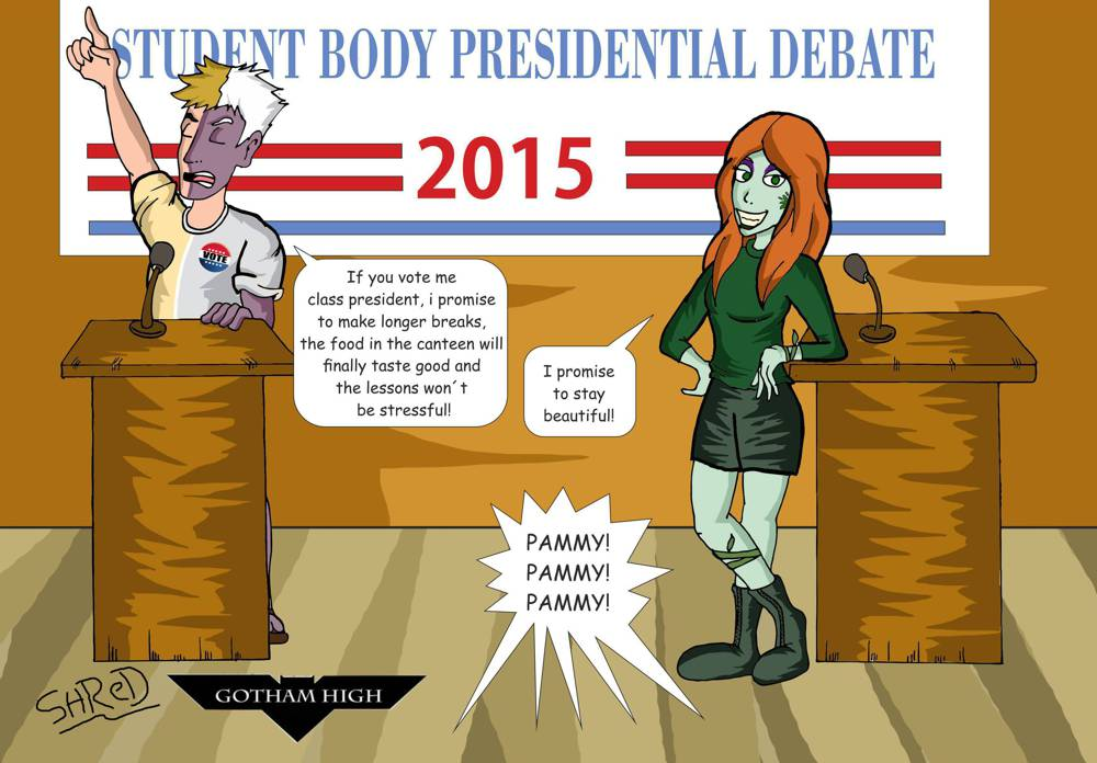 Gotham High: election duel by ShredSmiler