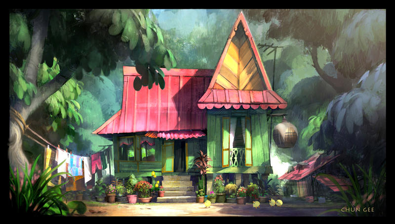 Kampung house 2 by cgooi on DeviantArt