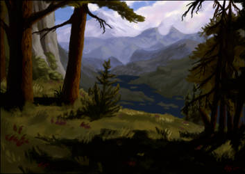 The Vernal Mountains from the Grey Reaches by RocCenere