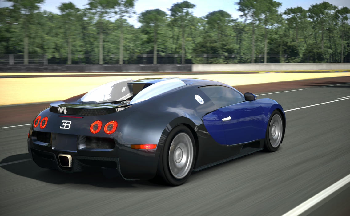 bugatti veyron 16 4 at circuit de la sarthe by racerzx on. Black Bedroom Furniture Sets. Home Design Ideas
