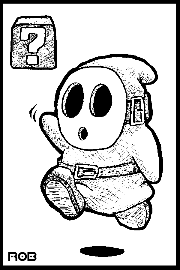Mario Shy Guy Coloring Pages Coloring