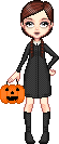 Wednesday Addams Trick-or-Treat Colab by VellumSkin