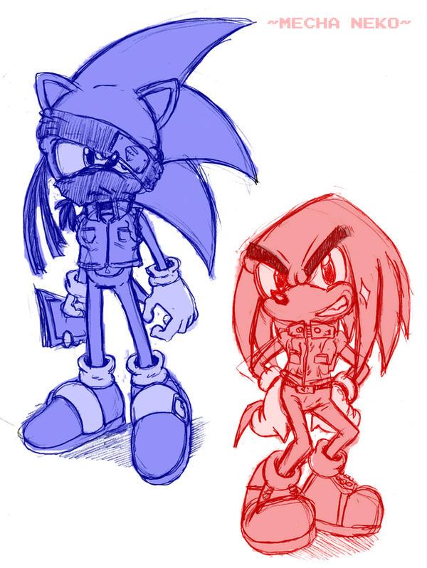Kakashi Sonic+Mighty Knuckles by MechaNeko