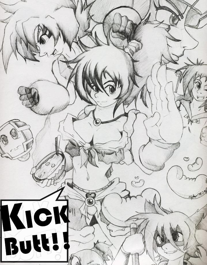 Kick BUTT by MechaNeko