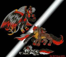 Thunder eye,Ezku,killy and Era by darkness-angel